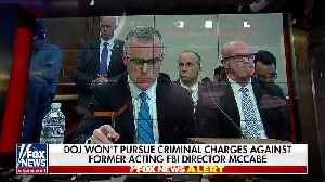 News that Justice Dept will not pursue case against McCabe [Video]