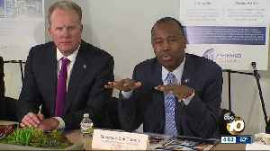 HUD Sec. Ben Carson visits San Diego apartment complex on housing bus tour [Video]