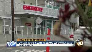 Officials confirm San Diego County's second coronavirus case [Video]