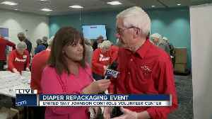 Gov. Tony Evers attends diaper repackaging event at United Way Johnson Controls Volunteer Center [Video]