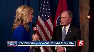 'He breaks promises. I keep them.' Bloomberg talks with NewsChannel 5 in on-on-one interview [Video]