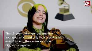 Billie Eilish 'embarrassed' by Grammy Awards sweep [Video]
