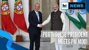 News video: Watch: Portuguese President meets PM Modi, President Ram Nath Kovind in Delhi