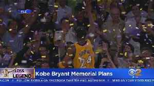 News video: Details Of Public Memorial For Kobe Bryant May Be Released Today