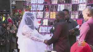 News video: Times Square Hosting Valentine's Day Weddings, Proposals