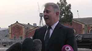 News video: Brandon Lewis makes his first visit to Belfast as Northern Ireland secretary