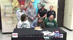 Trio of Huntington North standouts sign for college [Video]