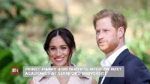 Prince Harry And Duchess Meghan  Go To California [Video]