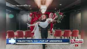 Local wedding business throws pop-up weddings on Valentine's Day for couples on a budget [Video]
