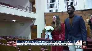 Unity Temple offers free marriage service on Valentine's Day [Video]