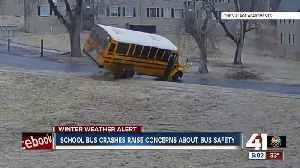 School bus crashes raise concerns about bus safety [Video]