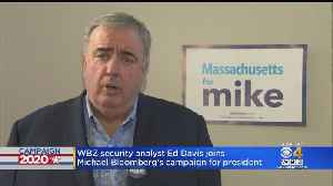 Ed Davis Joins Michael Bloomberg's Campaign For President [Video]