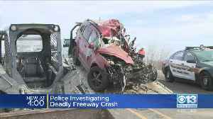 Police Investigating Deadly Freeway Crash [Video]