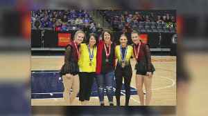Sisters Go Head To Head In State Dance Team Tourney [Video]