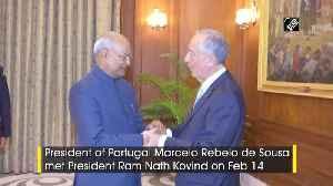 President Kovind meets Portuguese counterpart in Delhi [Video]