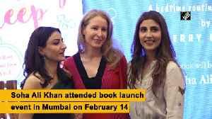 Soha Ali Khan attends book launch event in Mumbai [Video]
