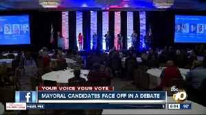 San Diego Mayoral candidates meet in debate [Video]