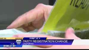 California voters can switch party status on Election Day [Video]