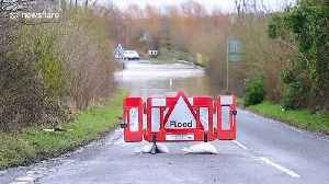 Motorists and pedestrians risk floods in West Yorkshire after Storm Dennis closes a road [Video]