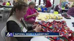 Project Linus makes blankets for kids in need on National Make a Blanket day [Video]