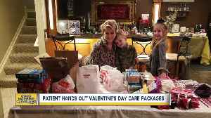 Cancer survivor hands out Valentine's Day care packages to patients [Video]