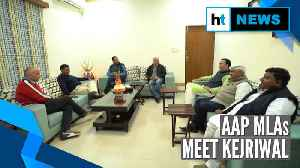 News video: Watch: Kejriwal discusses roadmap with AAP MLAs ahead of swearing-in