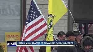 Protesters rally outside Bloomberg campaign office in Boise [Video]
