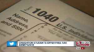 Creighton Students Offer Free Tax Assistance [Video]