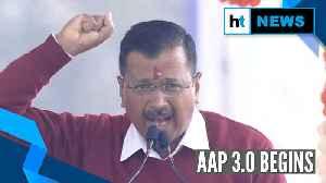 'Hum Honge Kaamyaab...': Delhi CM Arvind Kejriwal sings at rally after being sworn in [Video]