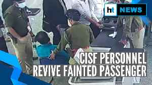 Kolkata airport: CISF personnel save passenger's life by performing CPR [Video]