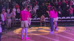 CSU Women's Basketball Honor Cancer Warriors [Video]