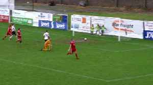 Portadown goal gets stuck in the mud in Storm Dennis