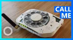 Space engineer makes her own rotary cell phone [Video]