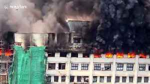 Government building in Mumbai engulfed by flames, several feared to be trapped inside [Video]
