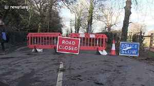 Residents of Derbyshire struggle to commute amid rising floodwaters from Storm Dennis [Video]