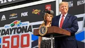 Trump Takes Lap Around The Daytona 500 Race Track [Video]