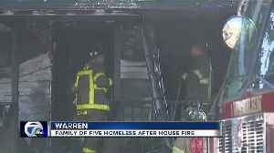 Family of five left homeless after house fire in Warren [Video]