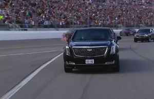 Trump takes limousine lap before Daytona 500 race