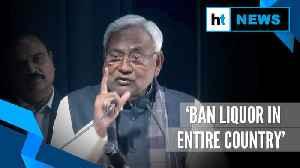 Watch: Bihar CM Nitish Kumar calls for liquor ban across India [Video]