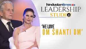 Michael Douglas & Catherine Zeta-Jones on films, family & love for India [Video]