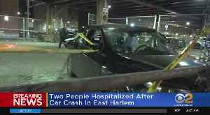 Two Hospitalized After Car Crash In East Harlem [Video]