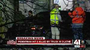 Pedestrian hit, killed by truck in Olathe [Video]