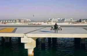 Jetpack man flies high above Dubai coastline [Video]