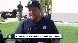 Miguel Cabrera speaks during first Tigers full-squad workouts [Video]