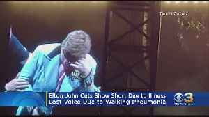 Emotional Elton John Cuts Show Short In New Zealand Due To Walking Pneumonia [Video]