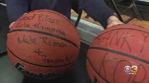 Philadelphia Police Athletic League, Lower Merion High School Give Away Basketballs To Kids [Video]