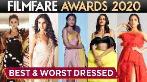 Filmfare Awards 2020   Best And Worst Dressed   Alia Bhatt, Ananya Panday, Bhumi, Taapsee [Video]