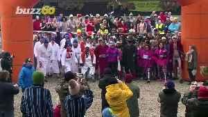 Hot Pursuit! Racers Brave the Cold & Heat During the European Sauna Marathon! [Video]