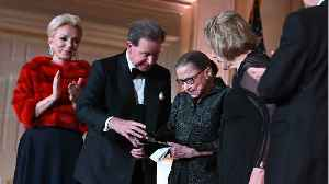 News video: Ruth Bader Ginsburg: Sparkling Heels For Women's Leadership Presentation