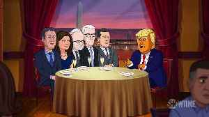 Our Cartoon President Season 3 Clip - Cartoon Trump's First Date with CNN [Video]